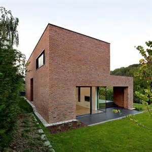 Modern Brick House Modern House Design Brick Volume Simple Rectangular Architecture Modern Brick House Designs