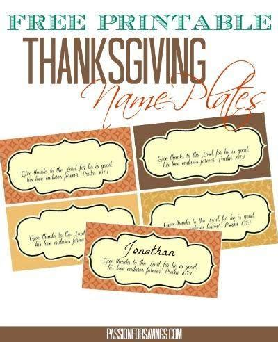 Name Place Card Template For Thanksgiving by Free Thanksgiving Cupcake Toppers Place Cards