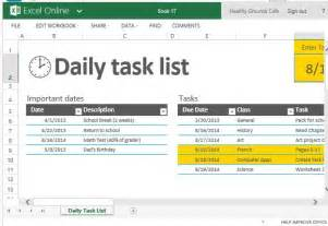excel template for daily tasks daily task list template for excel powerpoint presentation