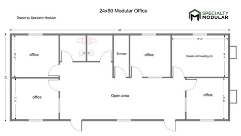 area of a floor plan find commercial modular buildings specialty modular inc