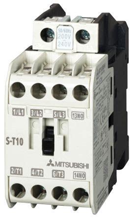 Contactor Mitsubishi S T 12 by S T12 Ac100v 1a1b Mitsubishi Mitsubishi S T 5 Pole