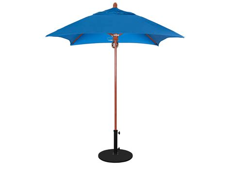 6 Foot Patio Umbrellas California Umbrella Series 6 Foot Square Market Wood Umbrella With Push Lift System Flex604