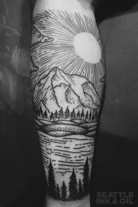 scenery tattoos northwest scenery by christopher noogin seattle