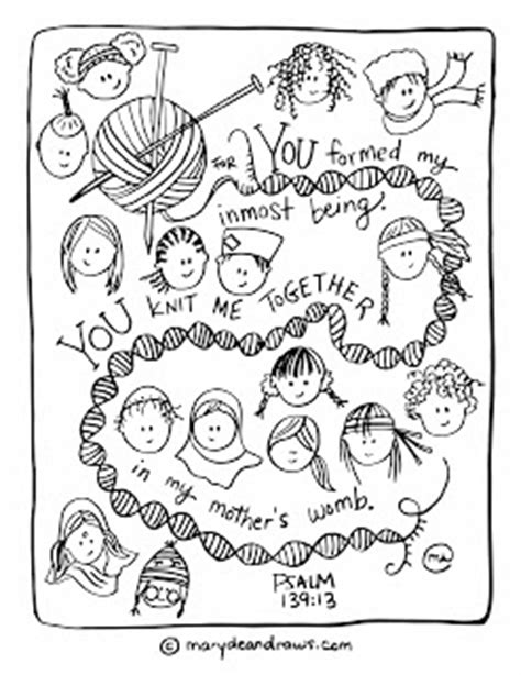 Conversations With My Kids About Race Psalm 139 13 Psalm 139 Coloring Page