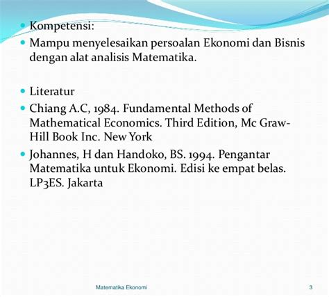 Pengantar Matematika Untuk Ilmu Ekonomi Dan Bisnis M Nababan 1 matematika bru