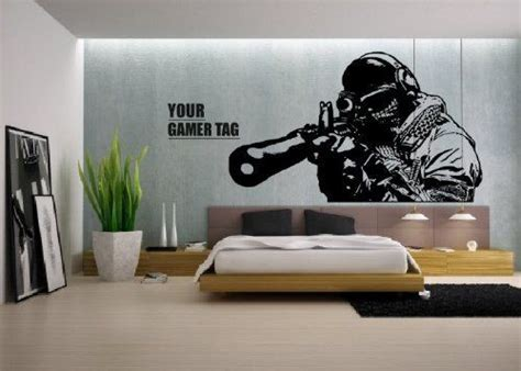 call of duty room decor call of duty style sniper gamer tag cod boys bedroom wall sticker ps3 xbox 28 colours
