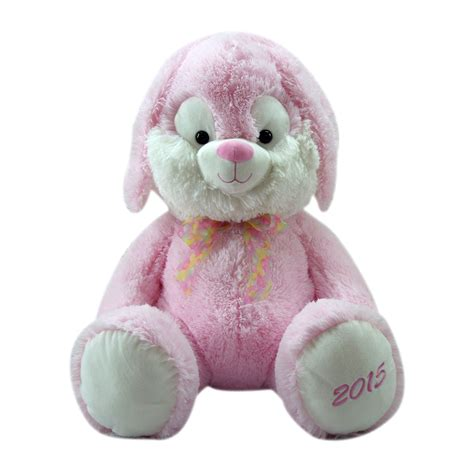 easter plush animals easter jubilee plush pink bunny 21 quot seasonal