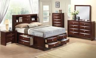 Espresso King Bedroom Set Acme 21596ek Ireland 4pcs Espresso Bookcase King Storage