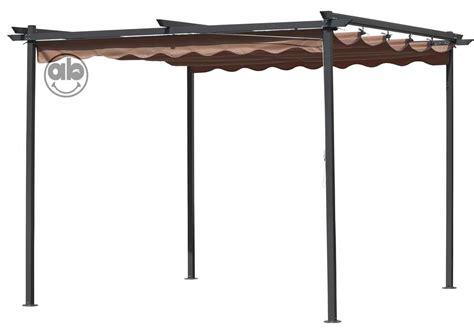 gazebo telo pergola gazebo in acciaio 3x3 telo di copertura scorrevole