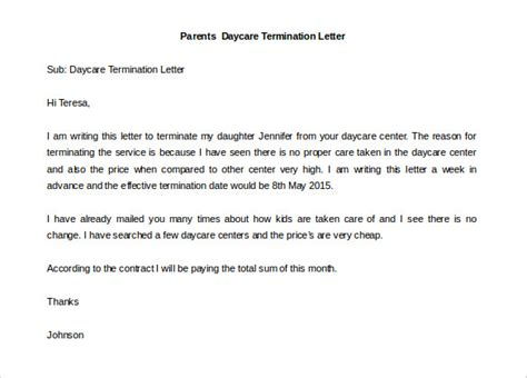 Sle Dispute Letter To School Cancellation Letter To School 28 Images 12 Termination Letter Templates Free Sle Exle
