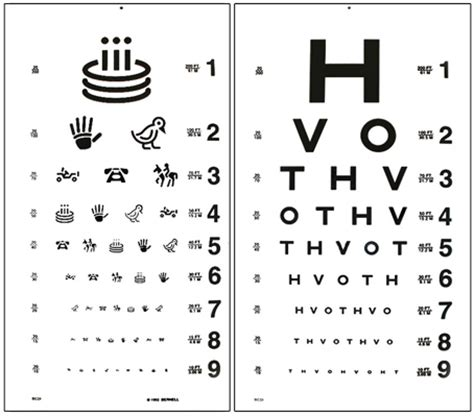 printable eye acuity chart distance acuity charts hotv 20ft distance test