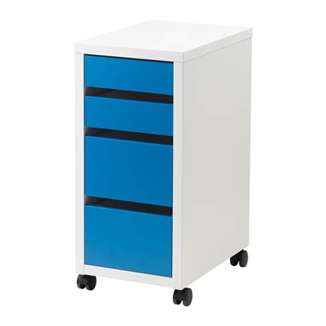 micke drawer unit on castors white blue ikea