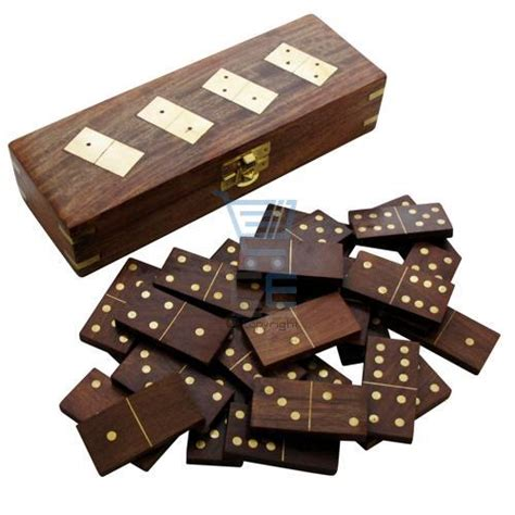 Dominos Handmade - indian handmade dominoes set storage box brass inlay ebay