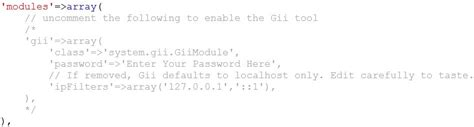 tutorial membuat website dengan yii framework membuat crud di yii framework dengan gii