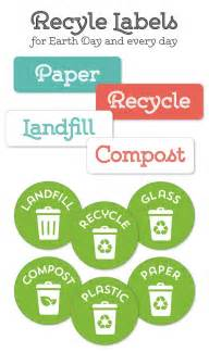 bin labels template recycle labels for your home office recycling center