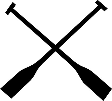 row the boat oar minnesota free vector graphic paddles crossed canoe sport free