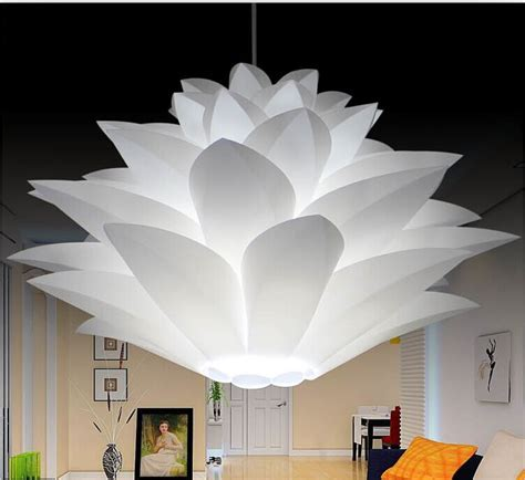 lotus flower pendant light novelty lotus iq lights puzzle ls creative novel diy