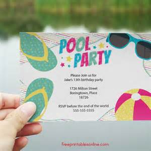 summer swimming pool invitations free printables bloglovin