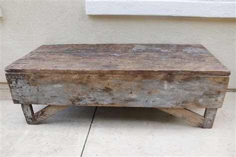 bench coffee table antique plank farmhouse coffee table bench omero home