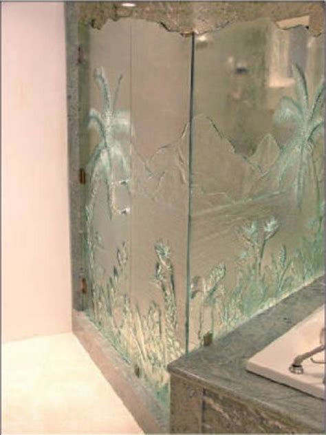 Patterned Glass Shower Doors Pattern Glass Enclosures