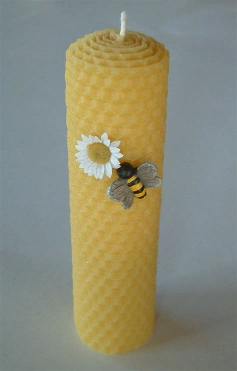 candela cera d api candela alveare in pura cera d api per la casa e per te
