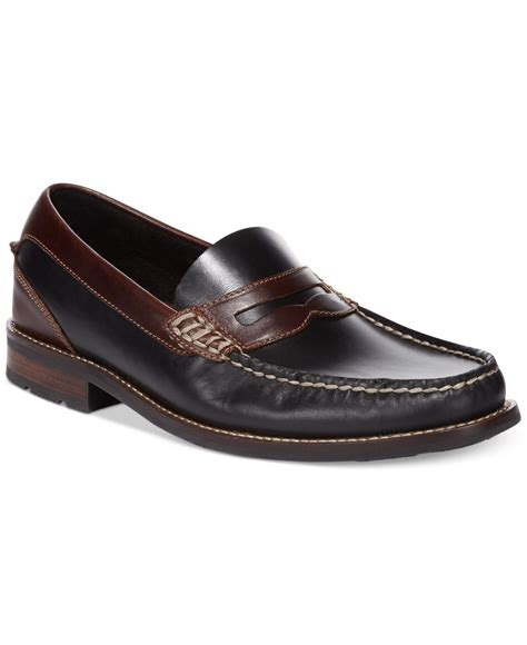 black sperry loafers sperry top sider essex loafers in black for lyst