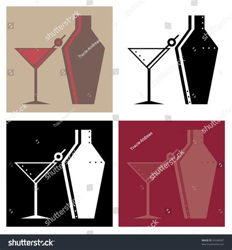 cocktail shaker vector cocktail glasses and cocktail shakers stock vector
