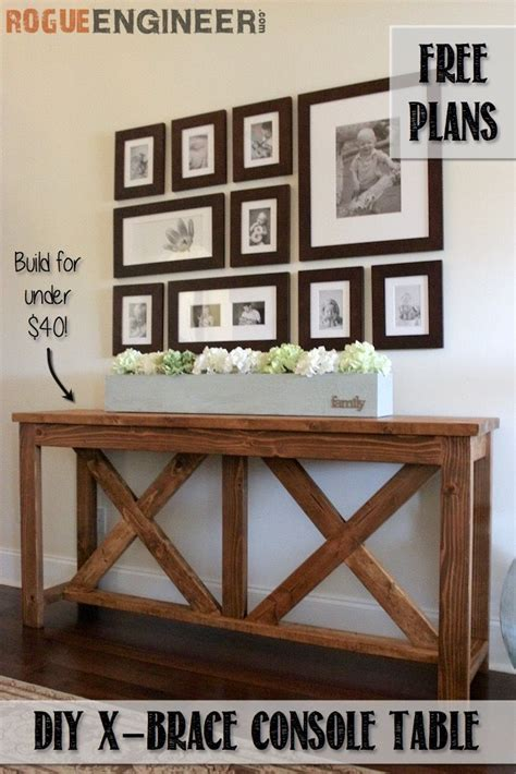 x brace console table diy x brace console table free plans console tables