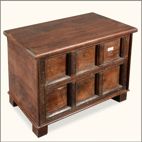 Reclaimed Wood Bistro Table Rustic Reclaimed Wood Storage End Table Mini Chest Side Tables And End Tables
