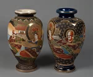 2 japanese satsuma vases