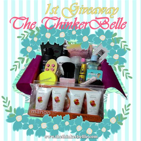 Birthday Giveaway - the thinker belle 1st giveaway birthday giveaway thinker belle