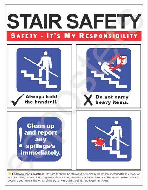 absturzsicherung treppe stair safety simplified poster 185