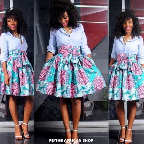 african attire skirt new fleur skirt with bow tie african print fashion