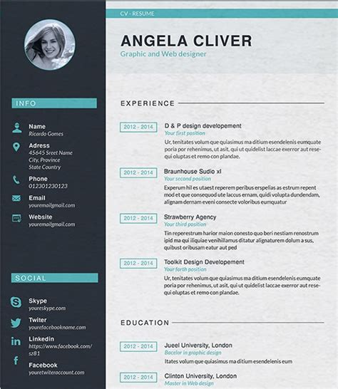 Professional Resume Design Templates by Designer Resume Template Resume Builder