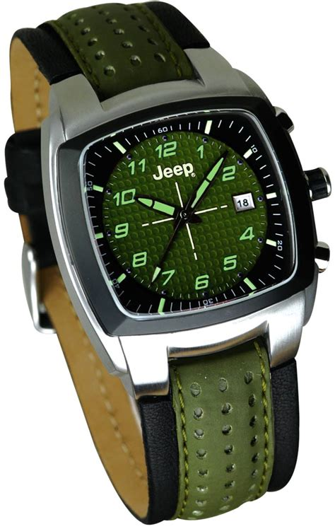 Jeep Watches Jeep Merchandise 2031 S Olive Olive Leather