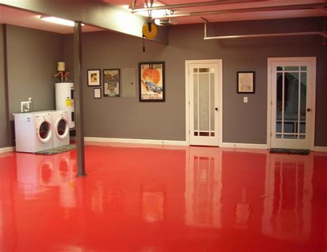 epoxy basement floor paint ideas basement
