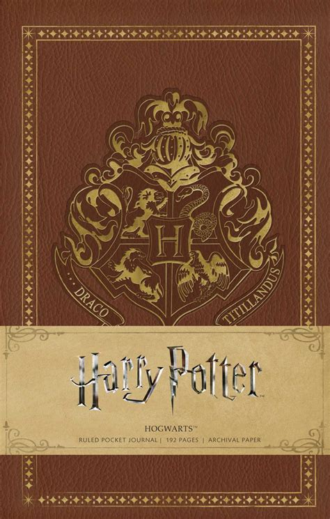 harry potter hogwarts ruled notebook books harry potter hogwarts ruled pocket journal book by
