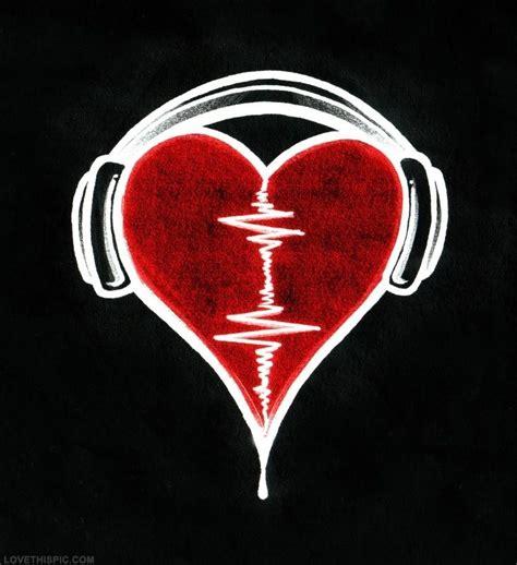 broken beat house music heartbeat music art heart headphones heartbeat beat music life pinterest