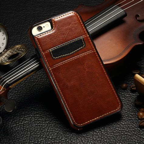 Stand Softcasing Iphone 5 5s Se 6 6s 6 6s Casing Iring luxury leather wallet card holder phone cover for