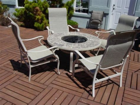 hton bay pit 4 rocking patio chairs