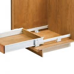 kitchen cabinet drawer rails floor mounted drawer slides with metal sides rockler