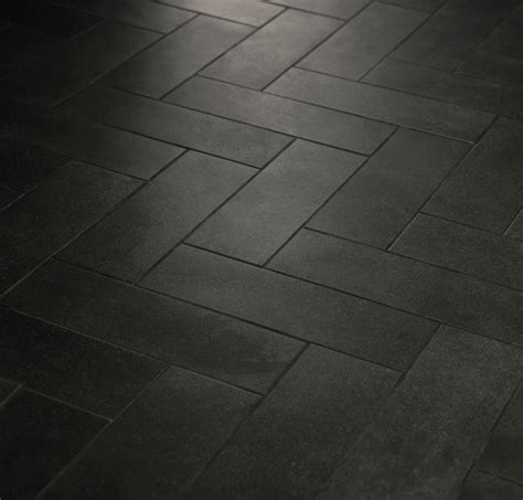 Black Bathroom Floor Tiles Herringbone Pattern With Crossville Tile Line Boutique Black Use Light Grout