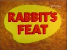 looney tunes title card template rabbit s feat