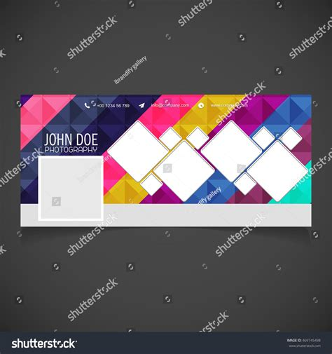 photography banner template creative photography banner template place image 库存矢量图 469745498