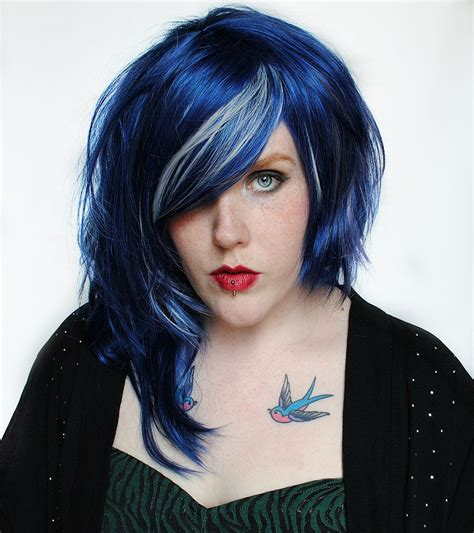 black hair black hair with blue hue hairstyle for