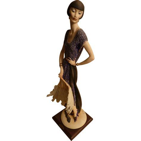giuseppe armani figurine lady  fan limited edition