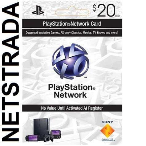 Gift Card For Ps4 - psn 20 sony playstation network 20 gift card ps3 ps4 vita psn psp code emailed