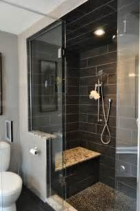 Dark Tile Bathroom Ideas 25 Bathroom Bench And Stool Ideas For Serene Seated