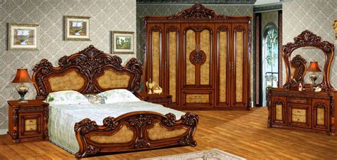 high quality royal antique bedroom set furniture excellent wooden carving beds   china