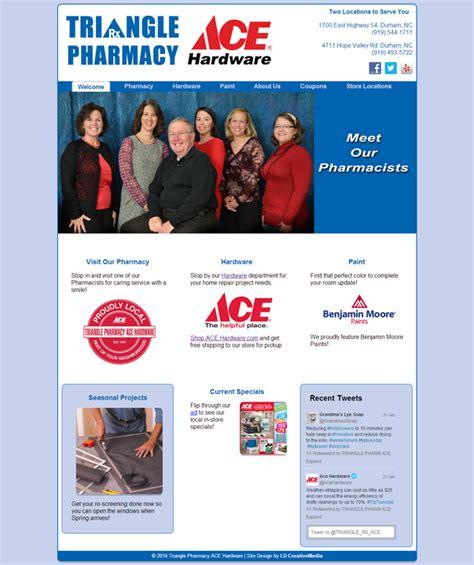 ace hardware website triangle pharmacy ace hardware ld creativemedia